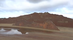 The Lake District Mountains Sculpture, Promenade, Morecambe, UK. Stock Footage