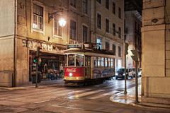 Old tram, Lisbon - stock photo