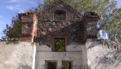 Historical manor ruins in park and wind Stock Footage