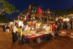 Goa Night Market - stock photo