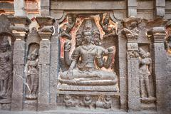 Ellora caves, Aurangabad Stock Photos