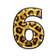 3d digit with panther skin texture - 6 Stock Photos