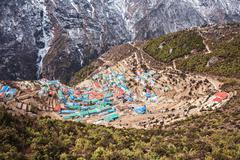 Namche Bazaar, Nepal - stock photo