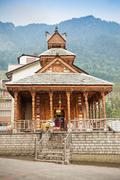 Manali temple Stock Photos