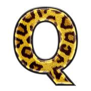 3d letter with panther skin texture - Q Stock Photos
