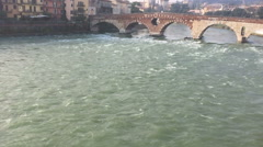 Ponte Pietra Stock Footage