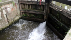 Leaking lock gates Stock Footage