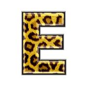 3d letter with panther skin texture - E Stock Photos