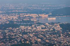 Aerial view Udaipur, India Stock Photos