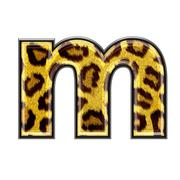 3d letter with panther skin texture - M - stock photo