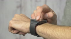 4K Smartwatch Being Used By Man Stock Footage