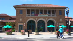 A small post office or government building in a California town. Stock Footage