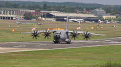 A400m taxi turn Stock Footage
