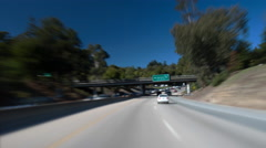 4k timelapse of driving over on a curvy highway, 17 from Santa Cruz to San Jose Stock Footage