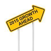 2015 growth ahead - stock illustration