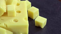 Emmental Cheese (seamless loopable) Stock Footage