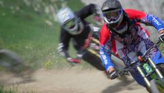 Mountain bike race Stock Footage