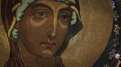 Our Lady of the icon Stock Footage