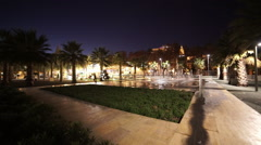 Beautiful Malaga by night Stock Footage
