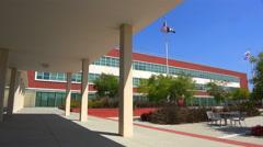 The beautiful modern art deco city hall of Richmond, California. Stock Footage