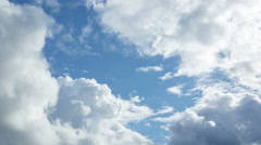 Only sky with cumulus clouds Stock Footage