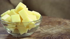 Emmental Cheese (not loopable) Stock Footage