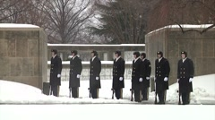 21 Gun Salute and Taps Full Military Honors Funeral Arlington National Cemetery - stock footage