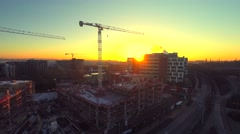 Aerial city view modern City construction Stock Footage