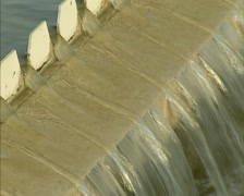 Overflow of the remaining liquid in Primary Treatment basin - close up Stock Footage