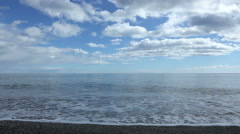 Empty Sea frontal view with clouds - stock footage