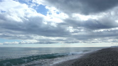 Clouds on the calm sea - stock footage