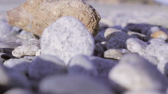 Particular of stones near the Mediterranean sea - stock footage