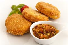 Fried cheese Stock Photos