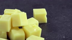 Portion of Cheese (not loopable) Stock Footage