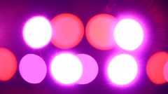Disco lights out of focus. Seamless loop Stock Footage