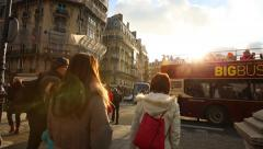 People walking in Paris, France. Stock Footage