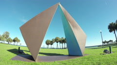 Sculpture In Vinoy Park, Saint Petersburg Florida Stock Footage