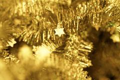 Tinsel. Christmas decoration. Stock Photos