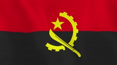 Loopable: Flag of Angola - stock footage