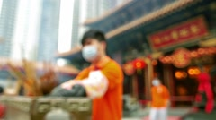 Wong tai sin temple chinese new year Stock Footage