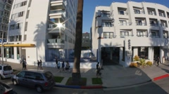 Santa Monica Establishing Shot Stock Footage