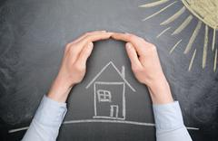Home Weather Protection - Sun Stock Photos