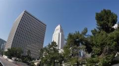 Los Angeles City Hall Stock Footage