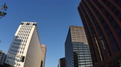 Downtown Los Angeles Driving POV  - stock footage