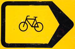 Bicycle Lane Diversion Sign Stock Photos