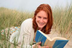 Reading During a Summer Holiday Stock Photos