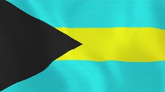 Loopable: Flag of Bahamas Stock Footage