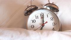 Alarm Clock causes emotional stress - stock footage