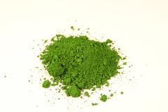 Chrome green pigment Stock Photos