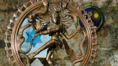 Shiva Statue figurine Stock Footage